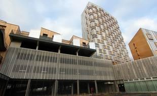 Des maisons ont été construites sur le toit d'un parking, dans le quartier de Villejean à Rennes.