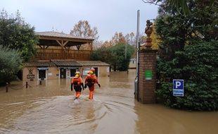 Lors des inondations dans le Var, la semaine dernière.