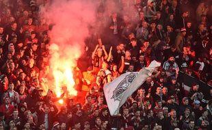 Plusieurs fumigènes avaient été craqués juste avant le coup d'envoi du derby entre Rennes et Nantes le 11 novembre.