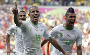 Sofiane Feghouli le 17 juin 2014 lors du match entre l'Algérie et la Belgique.