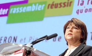 La première secrétaire du parti socialiste, Martine Aubry, le 30 janvier à Lille.