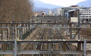 Illustration: des rails à Grenoble.