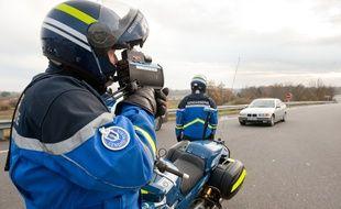 Un contrôle de vitesse effectué par la gendarmerie (illustration).