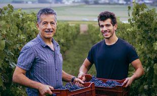 Fady et Antoine Sfeir ont créé Pif à papa, entreprise francilienne productrice de vins aux pieds des tours de La Défense.