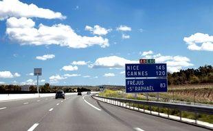 L'autoroute A8.