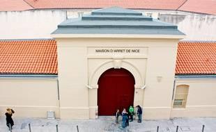 La maison d'arrêt de Nice, à l'Est de la ville.
