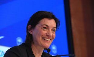 Corinne Diacre en conférence de presse le 26 février 2020 à Paris.