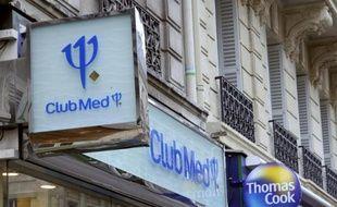 Un magasin du voyagiste Club Méditerranée en 2009 à Paris, objet depuis mai 2013 d'une OPA, le plus long de l'histoire à la Bourse de Paris