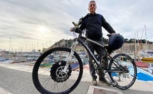 Laurent Durrieu présente sa roue avant électrique pour vélo