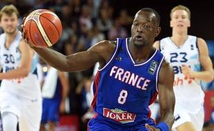 Charles Kahudi s'est notamment montré à son avantage face à la Bosnie durant cet Eurobasket, avec 7 points, 4 rebonds et 2 passes. PASCAL GUYOT