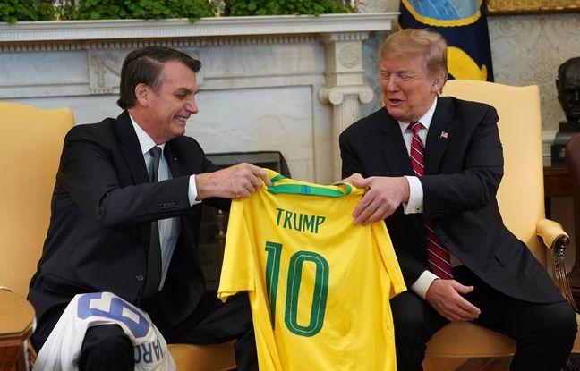 Fake News, climat, mur... Trump et Bolsonaro affichent leur complicité à Washington