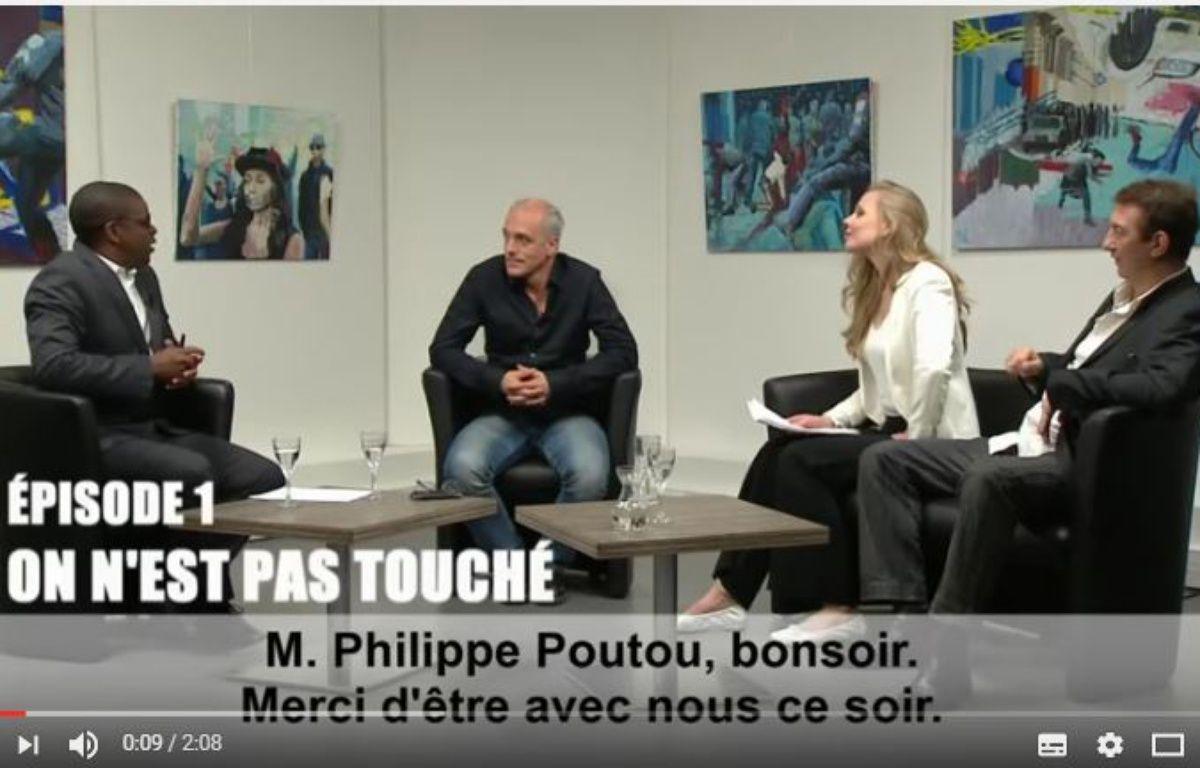 Capture d'écran du clip de campagne de Philippe Poutou dans lequel il parodie l'émission «On n'est pas couché». – NPA