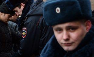 Illustration d'un policier russe.