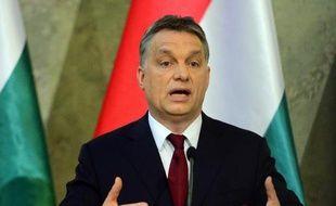 Le Premier ministre hongrois Viktor Orban, le 7 avril 2014 à Budapest