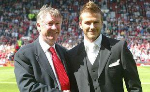 David Beckham et Alex Ferguson, le 17 juin 2003 à Manchester.