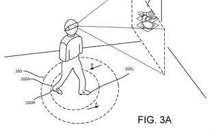 Une des illustrations du brevet de Google pour des chaussures à roulettes destinées à la VR.