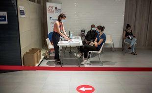Au centre de vaccination du centre commercial QWARTZ, le vendredi 2 juillet 2021, à Villeneuve-La-Garenne.