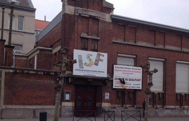 L'Institut de la Sainte-Famille d'Helmet, où Najim Laachraoui a étudié, à Schaerbeek, en Belgique, le 23 mars 2016.