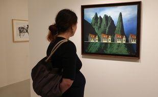 Strasbourg le 14 novembre 2014. Exposition  au MAMCS de l'oeuvre de Perahim. Maison ‡ vendre: la loi de la multiplication, 1989