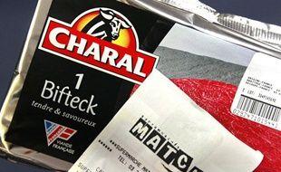 Un bifeck Charal acheté au supermarché Match de Lille, le 5 novembre 2012.