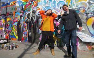 Les artistes « Daria la Russe » et Joris Delacour, ce week-end, place de la République