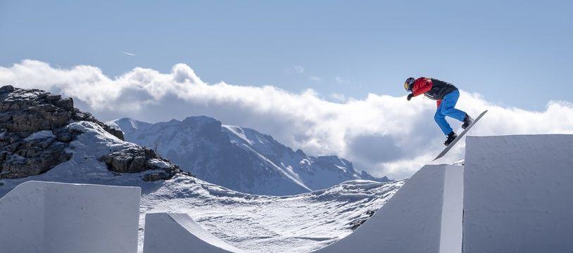 Pierre Vaultier a dessiné cet impressionnant parcours à Serre Chevalier, dans les Hautes Alpes.