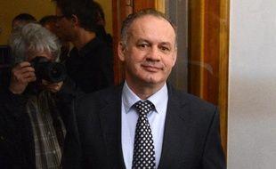 Le chef du gouvernement slovaque Andrej Kiska le 29 mars 2014 à Bratislava