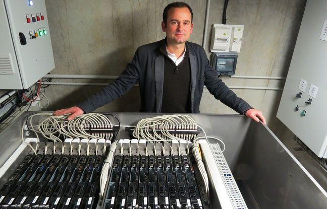Christophe Perron, président de Stimergy, fondateur de la chaudière numérique au nord de Nantes.