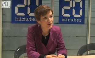 Capture d'écran de l'interview de Chantal Jouanno, le 16 décembre 2010 dans les locaux de 20minutes.fr.