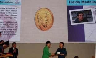 Maryam Mirzakhani, la chercheuse américaine d'origine iranienne qui a reçu la médaille Fields le 12 août 2014.