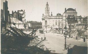La rue Faidherbe de Lille pendant la  Guerre 14-18.