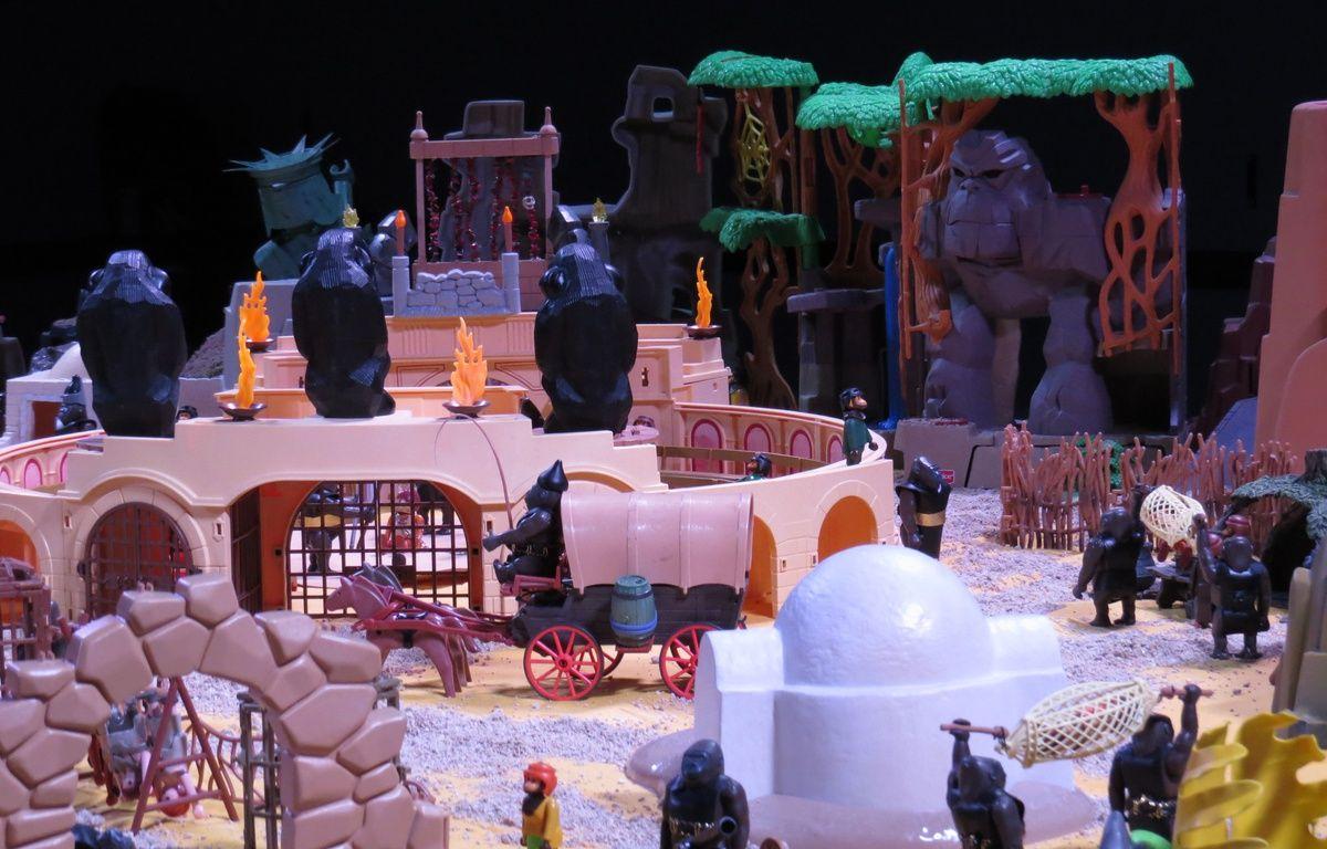 Mini World accueille jusqu'au 18 avril, une exposition consacrée aux Playmobil, à travers six films. Ici La Planète des singes – C. Girardon / 20 Minutes