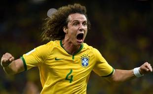 David Luiz lors du match entre le Brésil et la Colombie le 4 juillet 2014.