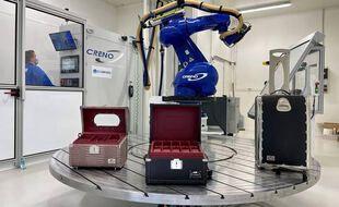 Les bagages en matériaux composites imaginés et fabriqués par le sous-traitant aéronautique.