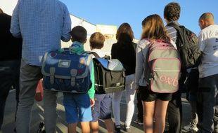 Le 2 septembre 2014, rentrée des classes à l'école Sousa Mendes de Bordeaux