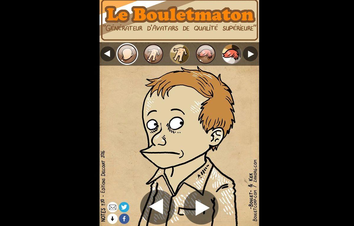 La page d'accueil du site le «Bouletmaton» – Capture d'écran Bouletmaton