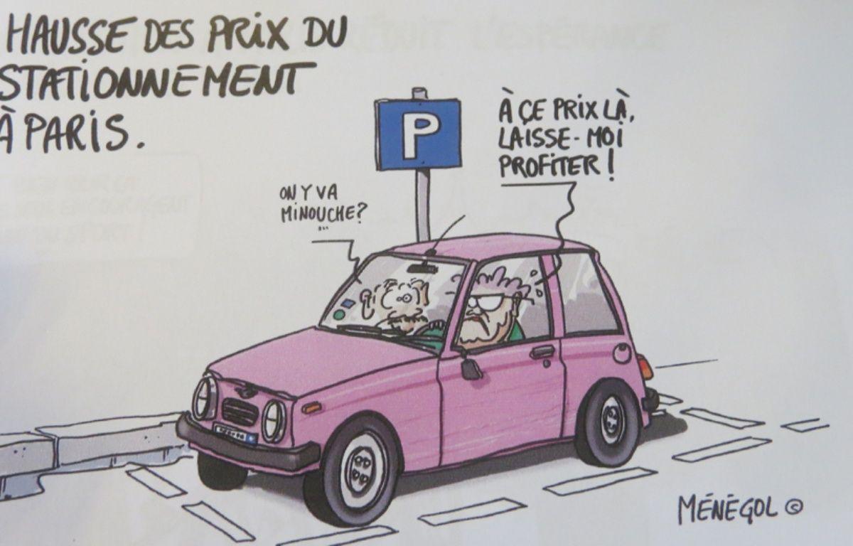 Pour marquer le premier anniversaire d'Anne Hidalgo à la tête de la mairie de Paris, NKM, sa principale rivale, a eu recours à la caricature. – Ménégol
