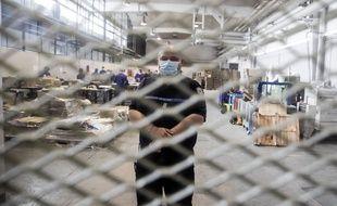 Un atelier de travail, à la prison de Fleury-Merogis.