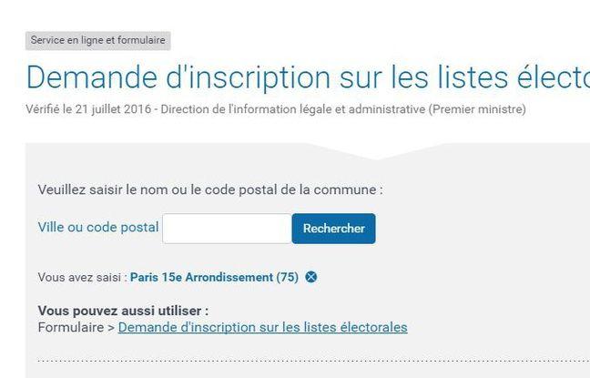 Il est possible de s'inscrire en ligne à la mairie du XVe arrondissement.