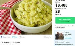 La salade de patates a du succès sur Kickstarter.