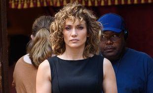 Jennifer Lopez sur le tournage de Shades of Blue en juin 2017