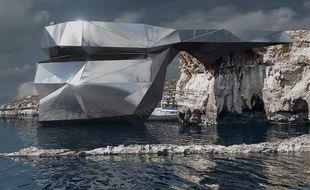 Un cabinet russe a imaginé cette structure pour remplacer la «Fenêtre d'azur», ce célèbre rocher de l'archipel de Malte qui s'est effondré en 2017.