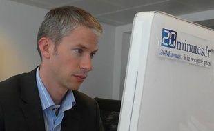 Franck Riester dans les locaux de 20 Minutes