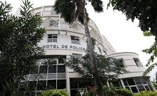 Le commissariat central de Saint-Denis à La Réunion le 2 juin 2015 après une arrestation d'une filière présumée de jihadistes