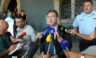 Le vice-procureur de la République de Vannes (Morbihan), Yann Le Bris, lors d'un poin presse le 6 août 2015