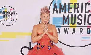 La chanteuse Pink à Los Angeles.
