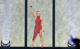 Céline Dion en concert au Québec.