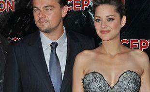 Leonardo Di Caprion et Marion Cotillard, le 10 juillet 2010 à Paris, pour l'avant-première du film «Inception».