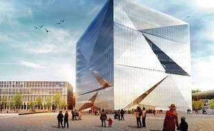 Le futur «Cube», bâtiment connecté qui ouvrira à Berlin (Allemagne) à la fin de l'année 2019.