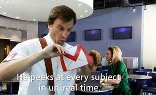 «Gmail-Man», dans le spot de Microsoft.